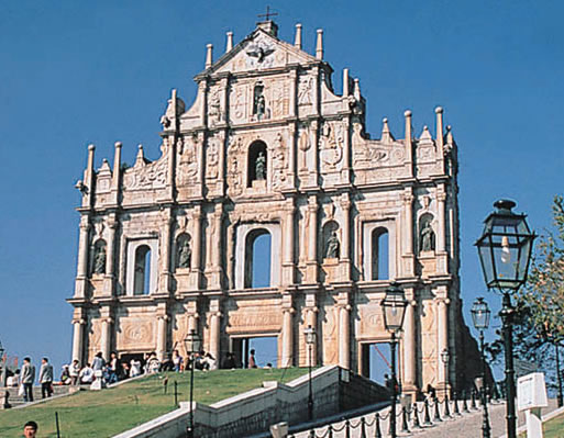 photo of a church in macau built by japanese christians fleeing the persecution of toyotomi hideyoshi